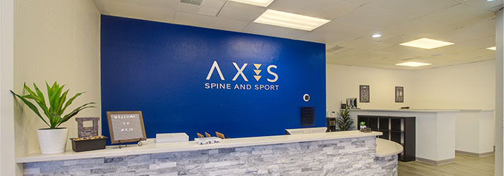 Chiropractic Tempe AZ Axis Spine and Sport Reception Desk